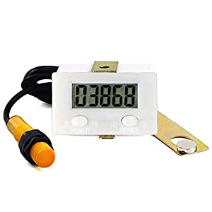 DIGITEN LCD Digital 0-99999 Counter 5 Digit Plus UP Gauge + Proximity Switch Sensor with Magnetic