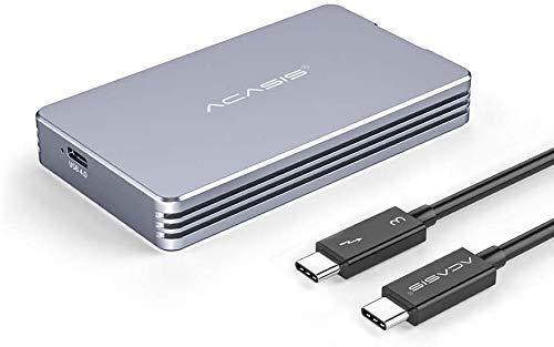ANYOYO Caja Nvme USB 4.0 móvil M.2 40 Gbps Compatible con Typec Thunderbolt 3 Interfaz Solid-State-NVME SSD Herramientas universales gratuitas