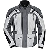 Tour Master Transition 5 Men's Textile Street Motorcycle Jacket - Light Grey/Gunmetal Medium