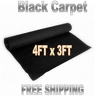 Audiopipe 3 Feet x 4 Feet Black DJ Car Sub Woofer Speaker Box Carpet Trunk Liner
