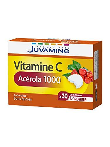 Juvamine Vitamine C Acérola 1000 30 comprimés à croquer