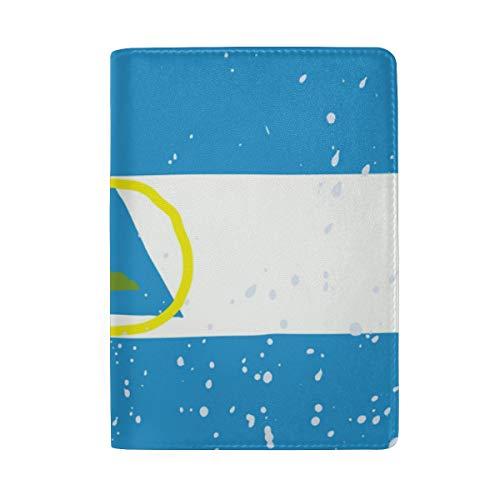 Funda de Piel para Pasaporte de la Bandera de Nicaragua, Soporte para Pasaporte