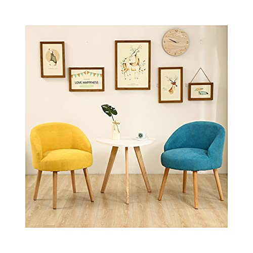 AMZYY uego de 2 sillas de Comedor, Retazos Silla de Estilo nórdico para Cocina Comedor Sala de Estar y Restaurante, Tamaño: 54 * 54 * 70 cm, Azul