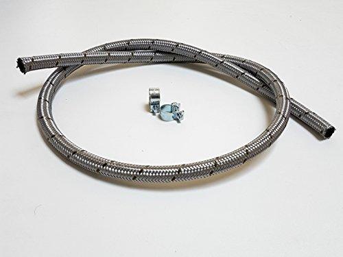 VE-Professional Benzinschlauch Kraftstoffleitung Stahlflex mit Schlauchschellen (ID 6mm x AD 11mm)
