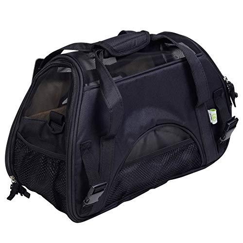Sntsya Tragbare Messenger-Handheld-Haustier-Mehrzwecktasche Offenes Fenster Super atmungsaktive Haustier-Tasche,Black,S