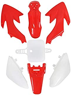 Podoy CRF50 Plastic Kit Red White XR50 Plastic Fender Kit for HONDA XR 50 CRF 50 SDG SSR 107 110 125 Pit Dirt Bike M PS03