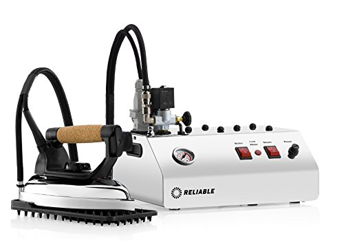 Reliable 4000IS Iron Station 50 PSI, Aluminium Soleplate, 4 Safety System, Pressure Gauge, Reset Thermostat, 2.5 L Water Capacity Ironing System with 7' Steam Hose and Iron Silicon Pad Made in Italy