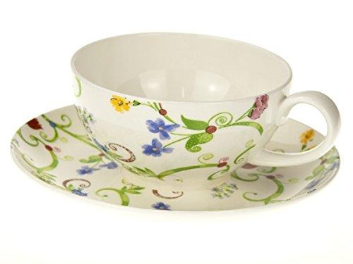 Teetasse und Unterteller Fleurette - TeaLogic