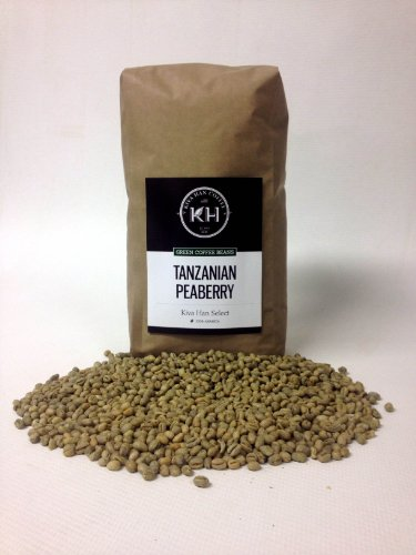 Tanzanian Peaberry Green Unroasted Coffee Beans, 5 Lb Bag