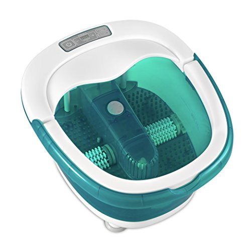 HoMedics, Deep Soak Duo Foot Spa with HeatBoost Power | Deep Rolling Wet/Dry Foot Massager | Dual Motorized Rollers, Waterfall Jets, Built-In Carry Handle, Acu-Node Surface & Optional Heat
