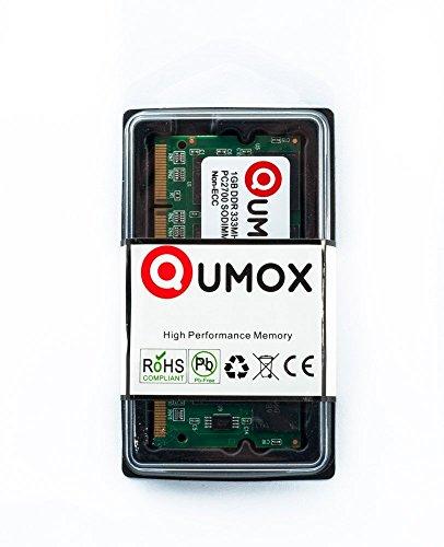 QUMOX 1GB DDR SODIMM (200 pin) 333Mhz PC2700 Laptop-Speicher