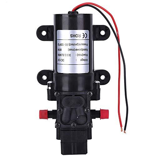 Bomba de diafragma resistente a la corrosión, 0.08 (kW) 60 ℃ 3.5-5 litros/mini diafragma de agua hecho de plásticos de ingeniería para purificador de agua DC12V FL3210-80W 10 mm diámetro de salida