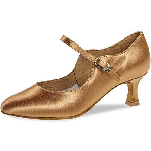 Diamant Damen Tanzschuhe 050-106-087 - Satin Bronze - 5 cm Flare [UK 5]