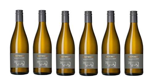 Metzger Prachtstück Weissburgunder Chardonnay Cuvée Weißwein Wein trocken Deutschland aus der Pfalz (6 Flaschen)