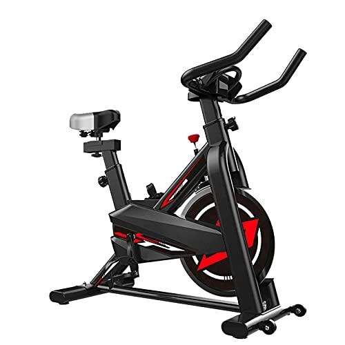 Bicicleta de ejercicio de interior, bicicleta de ejercicio en casa, resistencia ajustable y equipo de fitness aeróbica silencioso, adecuada para los amantes de la fitness para perder peso.