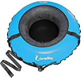 Bradley Ultimate Towable Snow Tube Sled and Heavy Duty Cover (50' Blue) | Made in USA