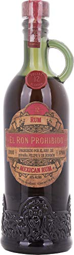 El Ron Prohibido 12 Years Old Solera Blended Mexican Rum 10cl