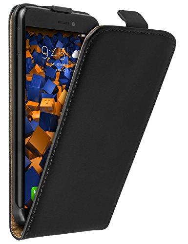 mumbi Tasche Flip Case kompatibel mit Huawei P8 Lite 2017 Hülle Handytasche Case Wallet, schwarz