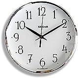 DECORVAIZ Wood Abstract Analog Wall Clock (White)