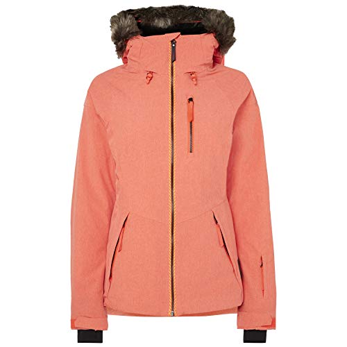 O'Neill PW Vauxite Jacket Skijacke und Snowboardjacke für Damen M orange (Neon Flame)