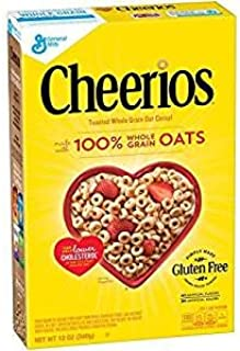 General Mills Cheerios 100% Whole Grain Oats Gluten Free 12 Oz. Pk Of 3.