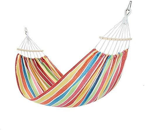 BZLLW Hammock,Single & Double Rollover Prevention Hammock,Portable Garden Hammock Swing Beds Perfect for Travel Camping Hiking Garden (Color : A, Size : 200x100cm(79x39inch))