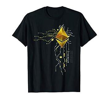 Ethereum GOLD ETH Heart T-Shirt - Men Women Kids