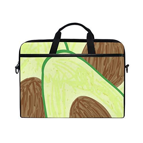 LUPINZ Laptop- und Tablet-Tasche mit Avocado-Schnittmuster, strapazierfähig, für Business, Uni, Damen, Herren