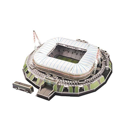 3D-Fußballstadion Puzzle 3D-Fußballstadion Modellbausatz Geschenk für Kinder Erwachsene, Emirate/Camp Nou/Bernabeu/San Siro/Allianz Arena München/Stamford Bridge/Anfield