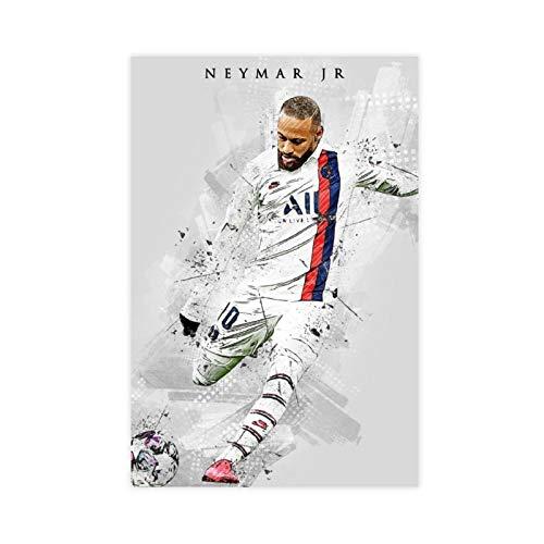 Fußball-Palyer-Poster Neymar Jr, Vintage-Kunst, Leinwand, Schlafzimmer, Dekoration, Sport, Landschaft, Büro, Raumdekoration, Geschenk, 30 x 45 cm, ohne Rahmen