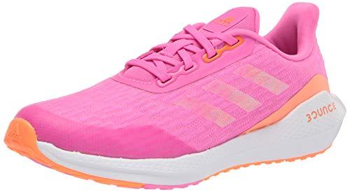 adidas EQ Running Shoe, Screaming Pink/Screaming Orange/White, 3.5 US Unisex Big Kid