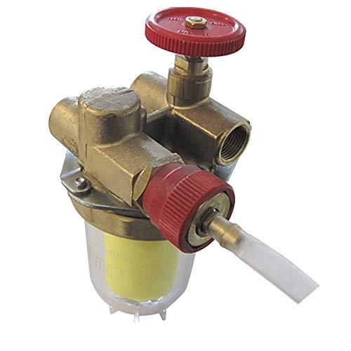 Oventrop - Filtro gasoil - Reciclaje con llave de paso FF3/8