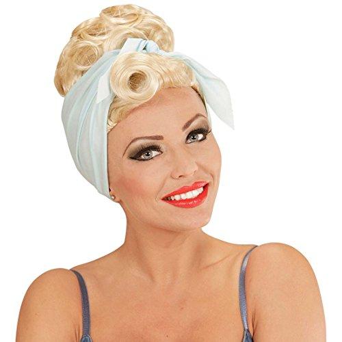 NET TOYS Damen Rockabilly Perücke Pin Up Girl Damenperücke blond 50er 60er Jahre Frauenperücke 50s 60s Faschingsperücke Fastnacht Rockabella Karnevalsperücke Kostüm Kleidung Zubehör