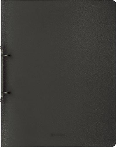 Brunnen 106551680 Ringbuch FACT!pp (A4, transluzente PP-Folie, 16 mm Füllhöhe, 2 Ringe) grau / onyx