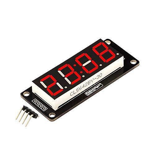 JCCOZ-URG 30pcs 4 Digit LED Display Tube 7 Segments TM1637 50x19mm Red Clock Display Colon for Arduino URG