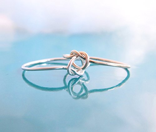 Double Love Knot Ring Sterling Silver Gold