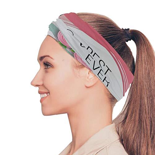XINLU Best Mom Ever Pink Rose Elastic Headbands Head Wrap Sports Sweatband Magic Scarf Hair Accessories Bands Ties for Women Man Girls Running Fitness Yoga