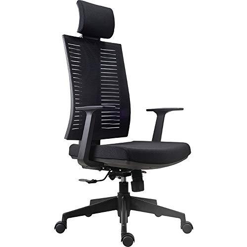 Inicio Silla de oficina Presidente de la Conferencia de malla silla de oficina con la ayuda de la cintura del reposabrazos, ajustable en altura de elevación silla de trabajo del hogar y rotación de si