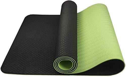 Hatonky Esterilla de yoga antideslizante de TPE, esterilla de entrenamiento antideslizante y para fitness, para yoga, pilates, fitness, 183 x 61 x 0,6 cm