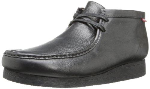 Clarks Men's Stinson Hi Chukka Boot,Black Leather,8.5 M US