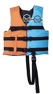 HO Child Hot Shot CGA Kids Wakeboard Vest Orange/Blue Child