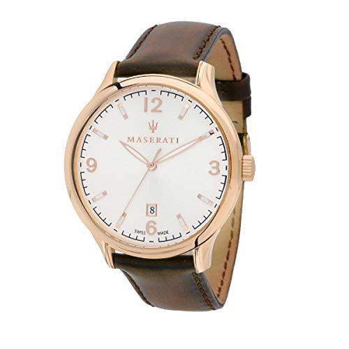 Orologio da uomo, Collezione ATTRAZIONE, in acciaio, cuoio - R8851126002