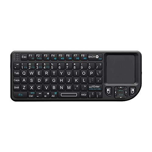 B Blesiya Nuevo Teclado Inalámbrico 2.4G con Panel Táctil para PC Smart TV
