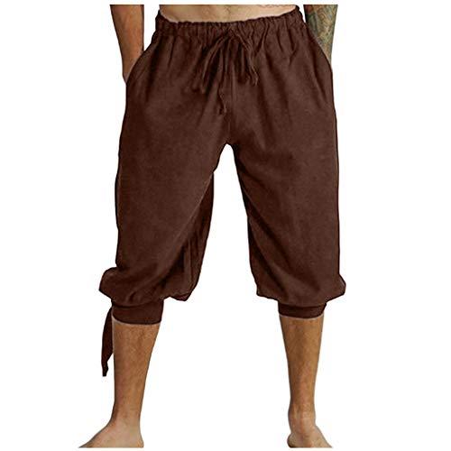 Susenstone Homme Pantacourt Pas Cher Ete Mode Casual Retro Short Grand Taille Baggy Drawstring Sarouel Pantalon De Plage