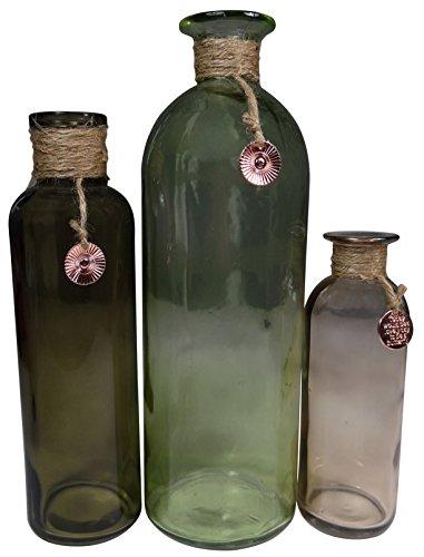 khevga–Juego de jarrones de cristal modernos, 3piezas