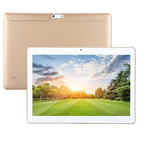Kafuty 10in Touch Tablet (Oro) - 3G   WiFi Phone Book (1 GB di RAM + 16 GB di Rom) Tracker GPS Notebook da Doppia Fotocamera da 300.000 Pixel + 2 megapixel per Android 4.4 100-240 V(Unione Europea)