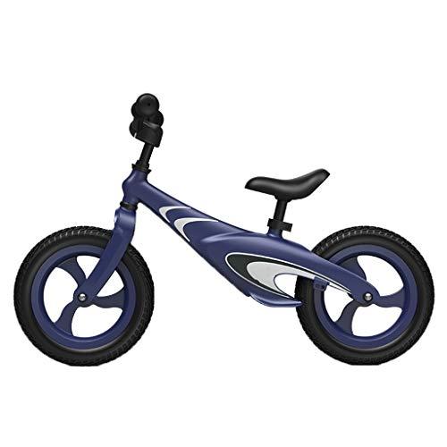 ANQIBIKE Balance Bike, Lega di Magnesio Adatta for Bambini di età Compresa tra 2-6 Anni Senza Pedali. Versione Competitiva ( Color : Blue )