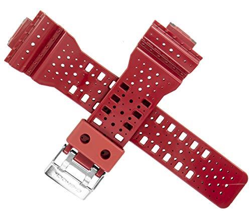 Casio - Correa de reloj para GA-110LPA-4A GA110 GA100 GA 110 100, color rojo y negro