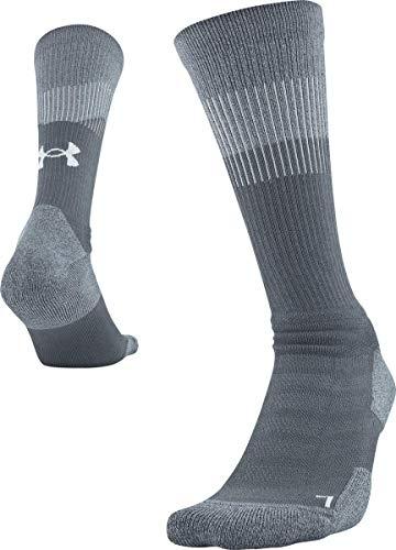 Under Armour Adult Unrivaled 3.0 Crew Socks, 1-Pair, Graphite, Shoe Size: Mens 12-16