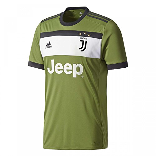 adidas JUVE 3 JSY Camiseta 3ª Equipación Juventus 2017-2018, Hombre, Verde (verart/Negro), S